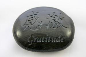 Pierre de gratitude pour la loi de la gratitude