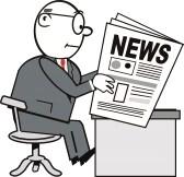 Homme qui lit les news